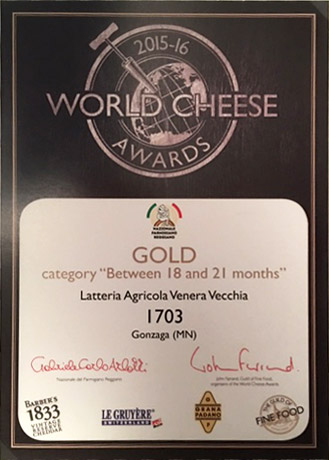 GOLD - World Cheese Awards 2015/16