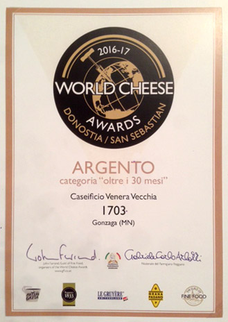 ARGENTO - World Cheese Awards 2016/17