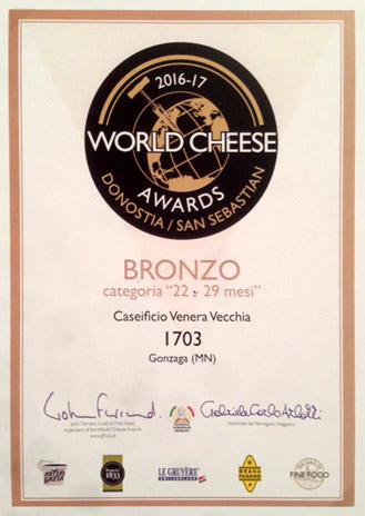 BRONZO - World Cheese Awards 2016/17