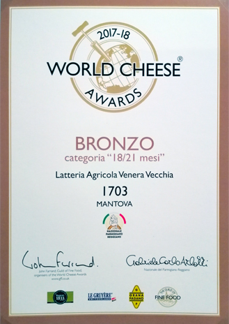 BRONZO - World Cheese Awards 2017/18