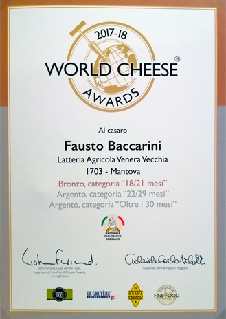 CASARO - World Cheese Awards 2017/18